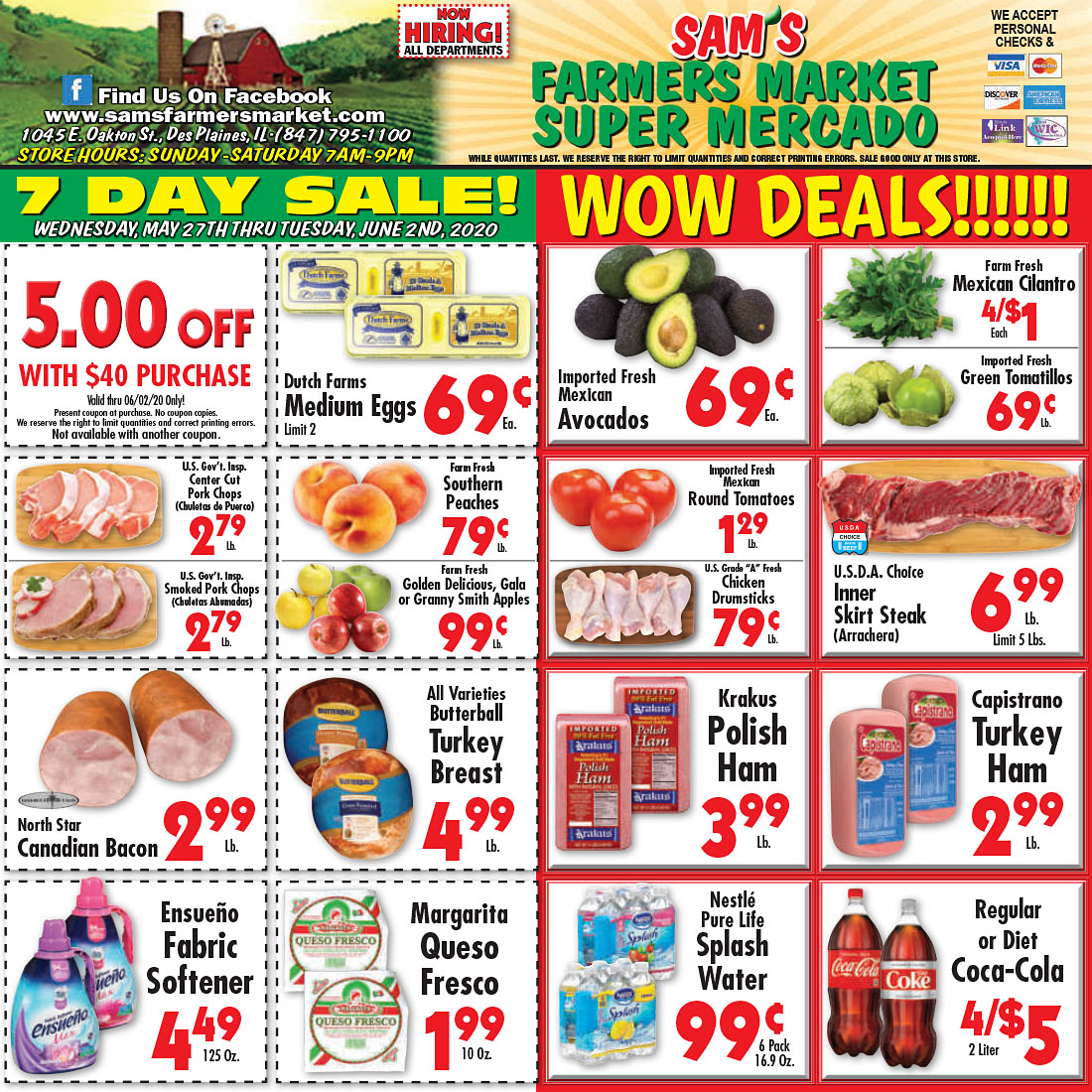 Sam's Farmers Market - Weekly Ad - Des Plaines, IL